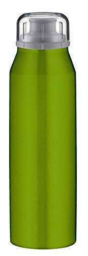 alfi Trinkflasche 500ml, isoBottle, Thermosflasche, Edelstahl grün Isolierflasche auslaufsicher, Wasserflasche 5677.133.050, Thermoskanne 12 Stunden heiß, 24 Stunden kalt