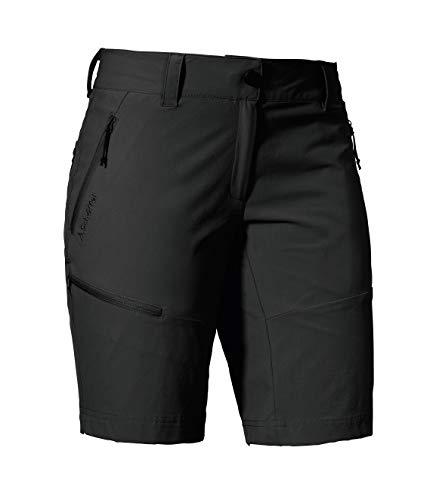 Schöffel Shorts Toblach2, leichte und kühlende kurze Wanderhose mit elastischem Stoff, vielseitige Outdoor Hose mit optimaler Passform und praktischen Taschen Damen, asphalt, 34
