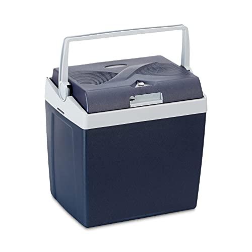 Amazon Basics Thermoelektrische Kühlbox mit Kühl- und Warmhaltefunktion - 26 Liter, 230V / 12V DC