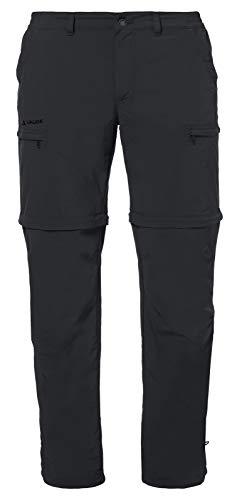 VAUDE Herren Hose Men's Farley Zip-Off Pants IV, abzippbare Wanderhose, black, 46, 038690100460