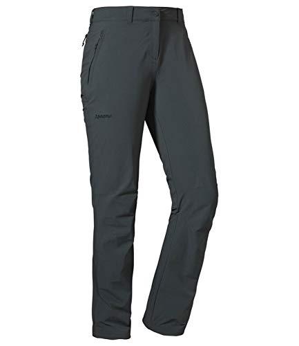 Schöffel Damen Pants Engadin1 strapazierfähige Damen Hose für Wanderungen, asphalt, 17
