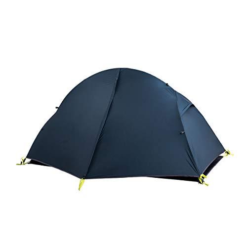 Naturehike Ultraleichtes Zelt Trekkingzelt für 1 Personen Zelt 3-4 Saison für Camping Wandern (Navy)