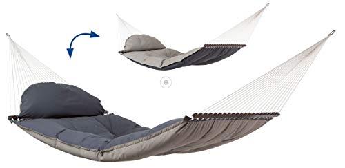 AMAZONAS Hängematte Fat Hammock Taupe Mehrpersonen 365x140cm bis 200 kg in Dunkelgrau