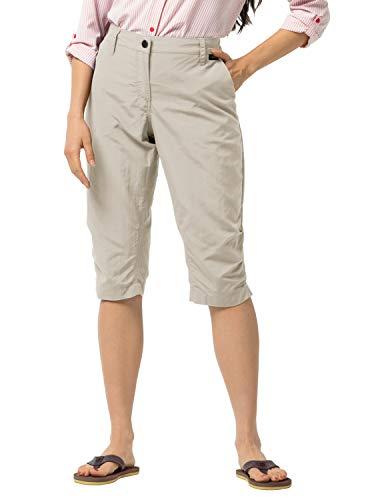 Jack Wolfskin Damen Kalahari Pants Women Schnelltrocknende 3/4 Wanderhose, Light Sand, 34