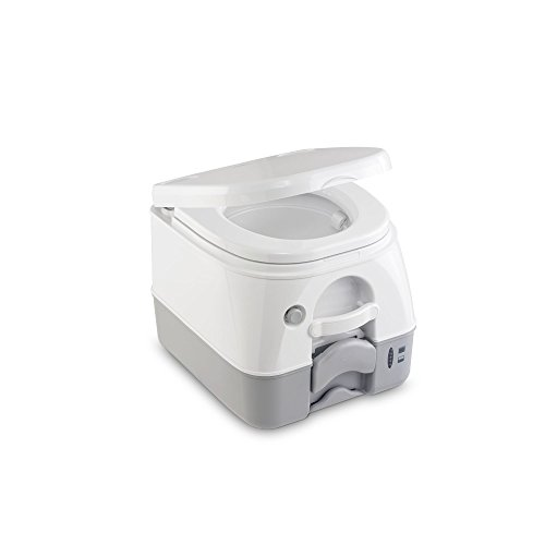 Dometic 9108557679 Portable 972 mit 360° Druckspülung Campingtoilette, Weiß/Grau