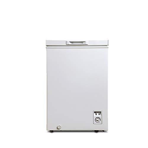 CHiQ FCF98D Gefrierschrank Klein 98 L | Gefriertruhe Klein mit statischem Kühlungsystem | Tiefkühlschrank | 84,5 x 56,8 x 56 cm (HxBxT) | A+ Energieverbrauch 165 kWh/Jahr | 12 Jahre Garantie