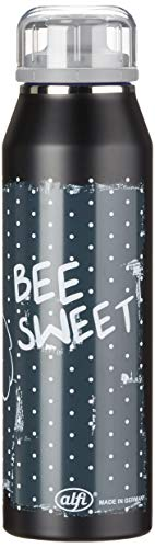 alfi Thermosflasche 500ml, isoBottle Biene Maja, Trinkflasche kohlensäurefest, Isolierflasche Edelstahl auslaufsicher, Wasserflasche 5677.127.050, Thermoskanne 12 Stunden heiß, 24 Stunden kalt