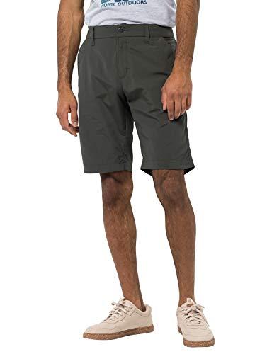 Jack Wolfskin Herren Desert Valley Shorts Men Schnelltrocknende Kurze Wanderhose, dark moss, 46 (XS)