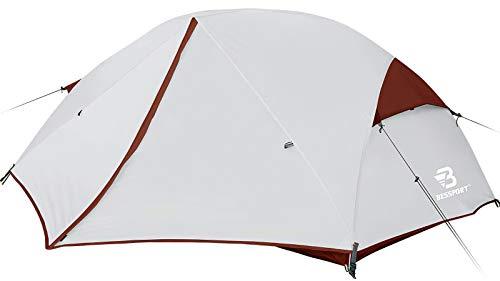 Bessport Ultraleicht Zelte 2-3 Personen, Winddicht &Wasserdicht PU 3000MM+, 3-4 Saison, Kuppelzelt Sofortiges Aufstellen für Trekking, Festival, Camping und Outdoor (3Person-Burgundy)