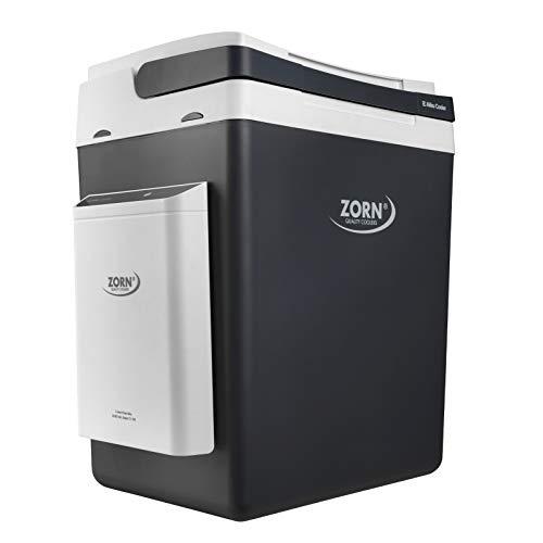 Zorn® I Elektrische Kühlbox mit Akku I E Akku Cooler I Kapazität 30 L I 12/230 V für Auto, Boot, LKW, Balkon und Steckdose I Energieklasse A+++