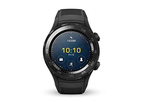 HUAWEI Watch 2 (Bluetooth) Smartwatch mit schwarzem Sportarmband (NFC, Bluetooth, WLAN, Android Wear/Wear OS by Google) schwarz