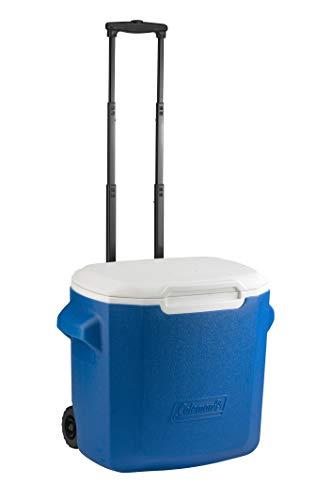 Coleman Passive Kühlbox 16 QT/28QT Performance Wheeled Cooler, Thermobox 15/26 L Fassungsvermögen, Mobile Eisbox mit Rädern