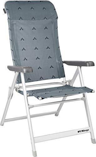 BERGER Klappsessel Luxus Alu Campingstuhl bis 120kg Klappstuhl Faltstuhl