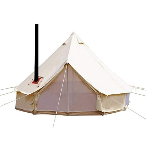 Sport Tent wasserdichte Campingzelt Familienzelt Baumwolle Tipi Zelt mit Herdheber/Lochrohrentlüftung Indiana Zelt 3M Bell Tent Teepee Pyramidenzelt, 3 M