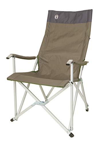 Coleman Faltstuhl Sling Chair mit Aluminiumgestell Zum Relaxen, Campingstuhl mit Armlehnen und hoher Rückenlehne, Transporttasche, bis Max. 113 kg