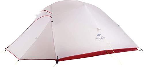 Naturehike Cloud-Up 3 Ultraleichtes Zelt 3-Personen-Rucksackzelt zum Wandern Camping im Freien (20D Grau)