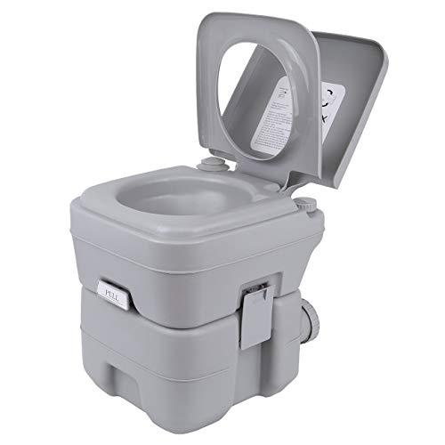 Samger 20L Tragbare Campingtoilette Chemietoilette Mobile Toilette Unterstützung von 130kg Maximalgewicht für zu Hause, Wohnmobil, im Freien