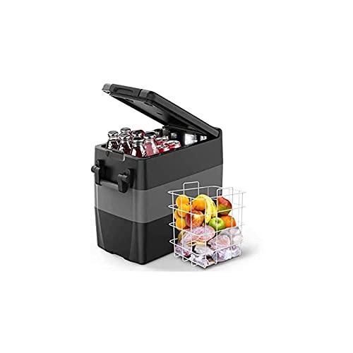 ISSYZONE elektrische Kompressor-Kühlbox 50 Liter tragbarer Auto Kühlschrank, -18 bis 10 ° C, Gefrierbox mit Batterieschutz, 12 V und 230 V für Auto, LKW, Boot, Wohnmobil, Camping und Hotelzimmer