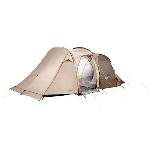 Jack Wolfskin Divide RT komfortable Stehhöhe 4 bis 6 Personen Familienzelt Zelt, Sahara, ONE Size