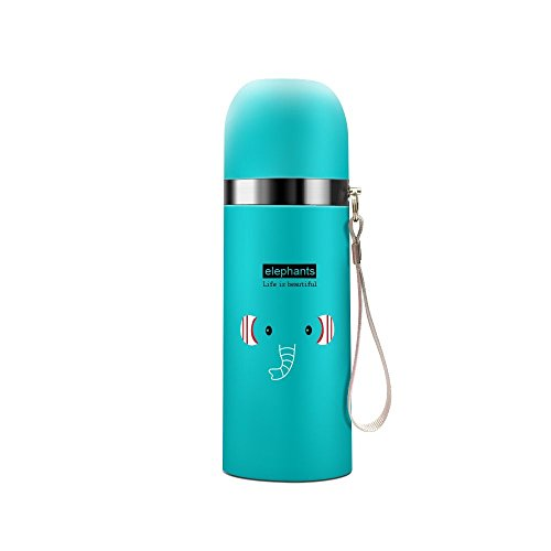 Jzhen Isolierflasche 500 mL,Edelstahl Trinkflasche Vakuum Isolierflasche Kinder Flasche