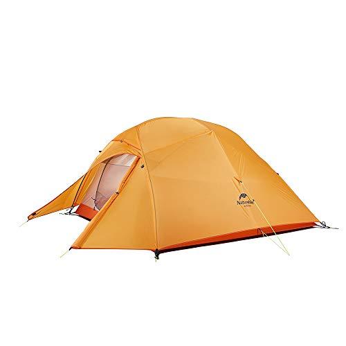 Naturehike Neu Cloud-up 3 Upgrade Ultraleichtes Zelte 3 Personen Zelt 3-4 Saison für Camping Wandern(210T Orange Upgrade)