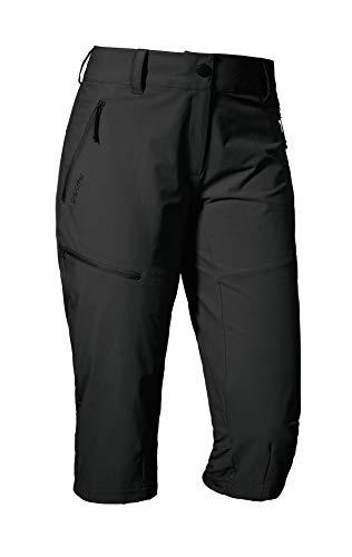 Schöffel Pants Caracas2, leichte und kühlende Wanderhose aus elastischem Stoff, vielseitige Outdoor Hose mit optimaler Passform und praktischen Taschen Damen, asphalt, 34