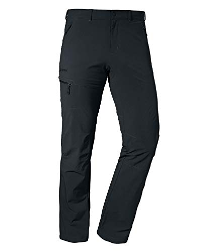 Schöffel Herren Pants Koper1 bequeme und robuste Herren Hose mit 4-Wege-Stretch, elastische und wasserabweisende Wanderhose für Männer, black, 54