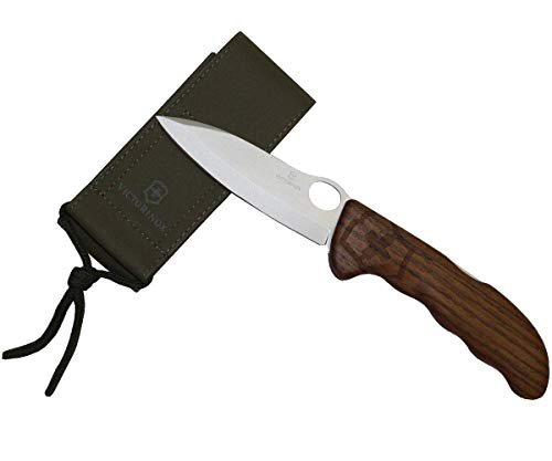 Victorinox Holz Taschenmesser Hunter Pro (Grosse/Starke Einhand-Feststellklinge, Nylon Etui)