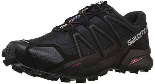 Salomon Herren Trail Running Schuhe, SPEEDCROSS 4, Farbe: schwarz (Black/Black/Black Metallic) Größe: EU 40