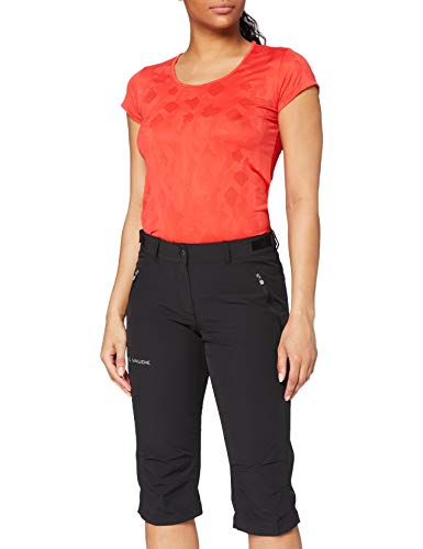 Vaude Damen Hose Women's Farley Stretch Capri II, Black, 34, 04578