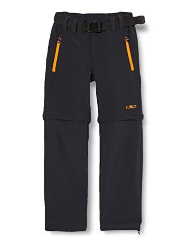 CMP Jungen Zip Off Dry Function Trousers Hose, Anthracite-Flash Orange, 92