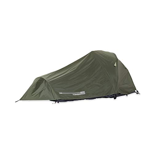 Lumaland Where Tomorrow 2-Personen-Kompakt-Zelt - Pop Up Wurfzelt Trekkingzelt - 245x160x95 cm - Camping Festival - Ultraleicht, wasserdicht, robust - Grün