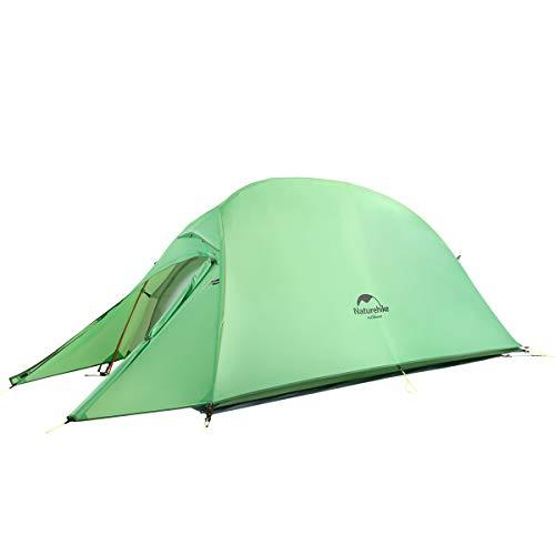 Naturehike Cloud-up Ultraleichte 1 Personen Single Zelt 3-4 Saison Camping Zelt (210T Grün Upgrade)