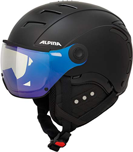 ALPINA Unisex - Erwachsene, JUMP 2.0 VM Skihelm, black matt, 59-61 cm