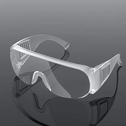 Schutzbrille für Brillenträger, Schutzbrille Spritzwassergeschützte Linse Antibeschlag, Überbrille mit weichem Nasenstück, Leichtes Gewicht und Angenehm zu Tragen