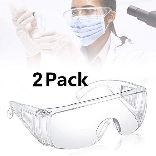 i-Tronixs Schutzbrille 2 er-Pack Anti-Infektions Schutzbrillen, klare Augenschutzbrille,Flüssig Staubschutzbrille, Perfekter Augenschutz Goggles