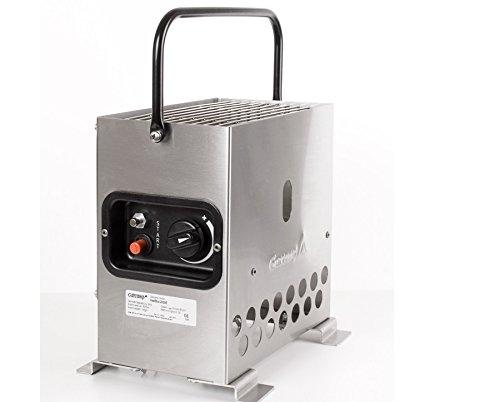 Heatbox 2000 edelstahl 50 mbar Set *Tasche schwarz / Regler* Zeltheizung Campingheizung Anglerheizung Jadgheizung