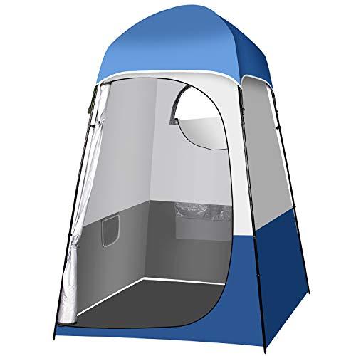 Qdreclod Camping Duschzelt Draussen Tragbar Umkleidezelt Toilettenzelt Draussen, 160 × 160 × 240 cm, Kann 20L Duschtasche Hängen