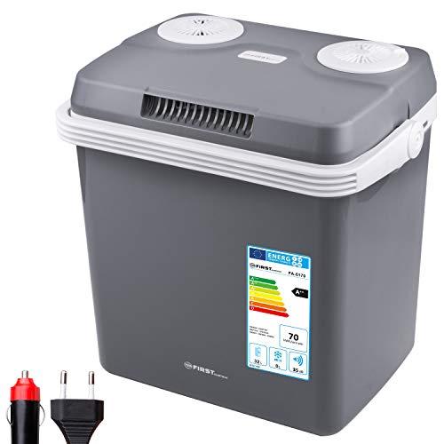 TZS First Austria - 32 Liter Kühlbox, WÄRMT und KÜHLT, thermo-Elektrische Kühlbox 12 Volt und 230 Volt, Mini-Kühlschrank   für Auto und Camping   EEK A++