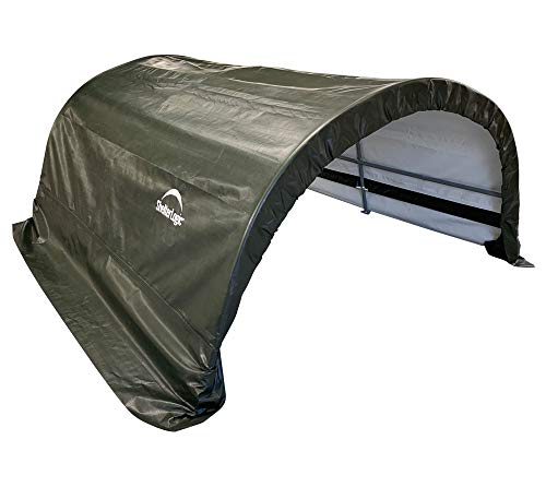 ShelterLogic Run-In-Shed 7,8 m² Weidezelt Weideunterstand 260x300 cm Lagerzelt 2,6x3 m grün Hühnerstall Ziegengehege