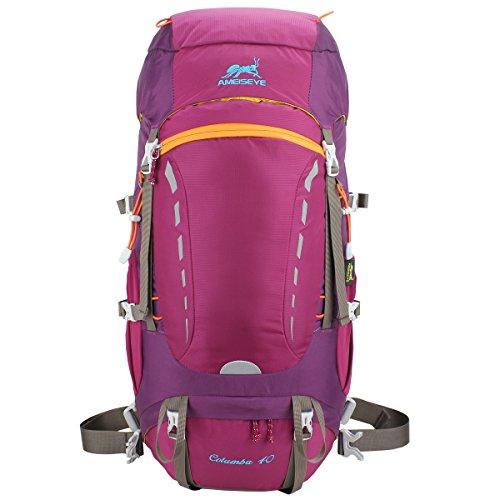 Eshow Wanderrucksack Trekkingrucksack 40L für Damen & Herren mit Regenhülle und Innengestell