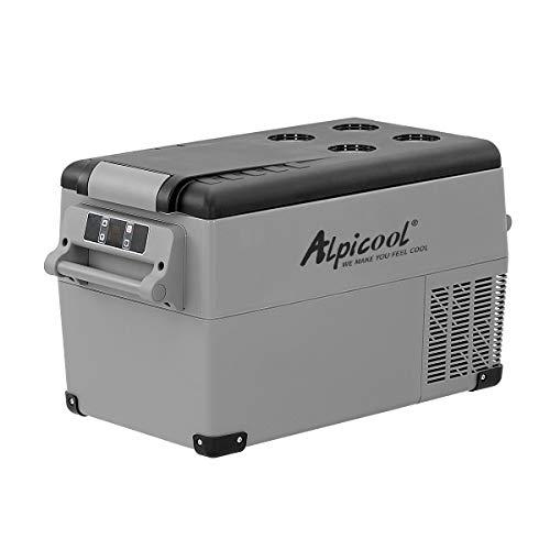 Alpicool CF35 35 Liter Kühlbox 12V tragbarer Mini-Kühlschrank elektrische Gefrierbox klein Gefrierschrank für Auto Camping, LKW, Boot und Steckdose mit USB-Anschluss, -20℃ bis 20℃