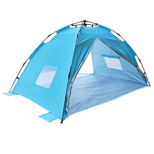 Homfu Pop up 2-4 Personen Extra Light Automatisches Strandzelt Windschutz Strandzelt Outdoor Campingzelt
