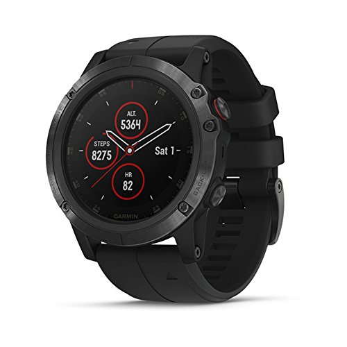 Garmin Garmin fēnix 5 Plus Premium Multisport smartwatch with Music GPS maps and Garmin Pay Ohrstöpsel 5 Centimeters Schwarz (Black)