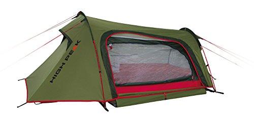 High Peak Leichtgewicht Sparrow, Campingzelt, Trekkingzelt für 2 Personen, Tunnelzelt nur 2,8 kg, Dauerventilation, 3000 mm wasserdicht, kleines Packmaß, Moskitoschutz, Innenzelt vormontiert