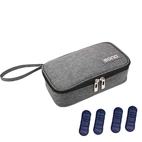 Eono by Amazon - Insulin Kühltasche Diabetiker Tasche für Medikamente Thermotasche, Grau