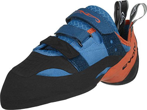 Evolv Shaman Kletterschuh blau orange, Herren, EVL0244 T10 US, Blau/Orange, 10 US / 43 EUR