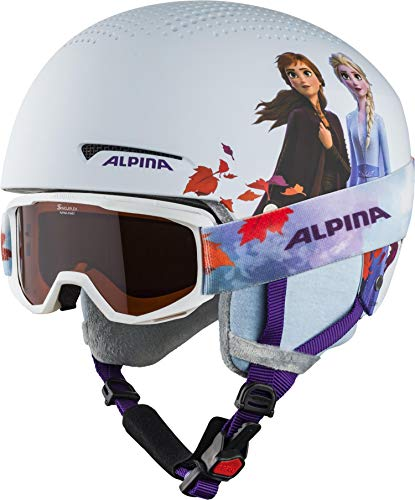 ALPINA Unisex - Kinder, ZUPO DISNEY SET Skihelm, Frozen II, 48-52 cm