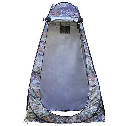 Pop-Up-Duschzelt, tragbar, für den Außenbereich, Privatsphäre, Camping, Toilette, Umkleidekabine, einfach aufzubauen, faltbar mit Tragetasche/leicht und stabil (Camouflage)
