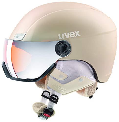 uvex Unisex- Erwachsene, hlmt 400 visor style Skihelm, prosecco met mat, 53-58 cm